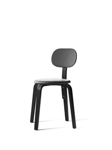 Afteroom Plus, Wooden Base Dining Chair, Upholstered-Chair-Afteroom Studio-Dining Height (Seat 18.4 H)/Black Ash-0842 Black/Dakar-menu-minimalist-modern-danish-design-home-decor