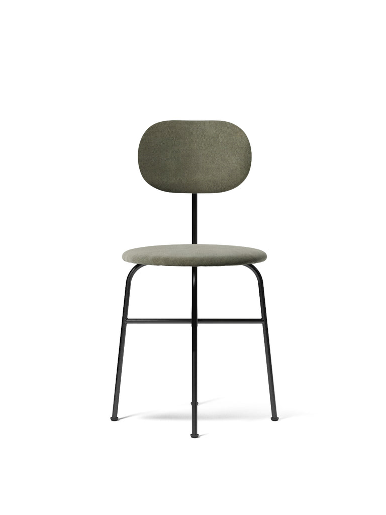 Afteroom Plus Chair, Upholstered-Bar Chair-Afteroom Studio-Dining Height (Seat 18.1in H)/Black Steel-Same as Seat (Upholstered)-961/Fiord2-menu-minimalist-modern-danish-design-home-decor