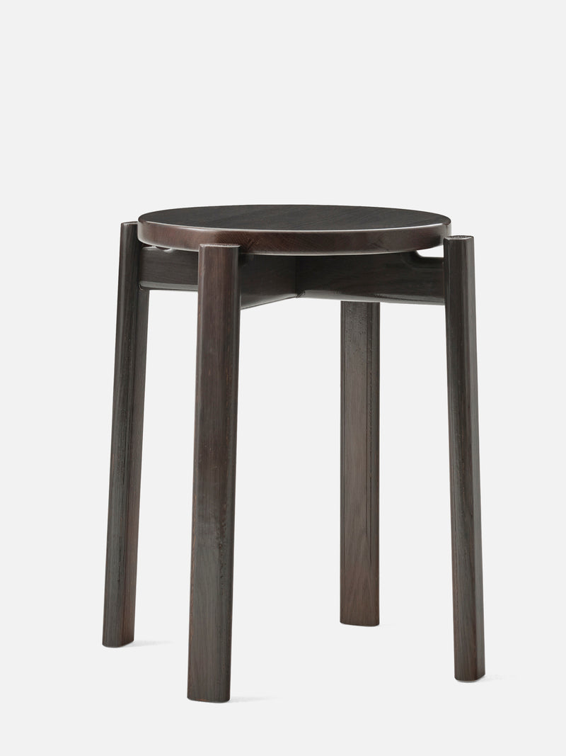 Passage Stool-Chair-Kroyer-Saetter-Lassen-Dark Lacquered Oak-menu-minimalist-modern-danish-design-home-decor