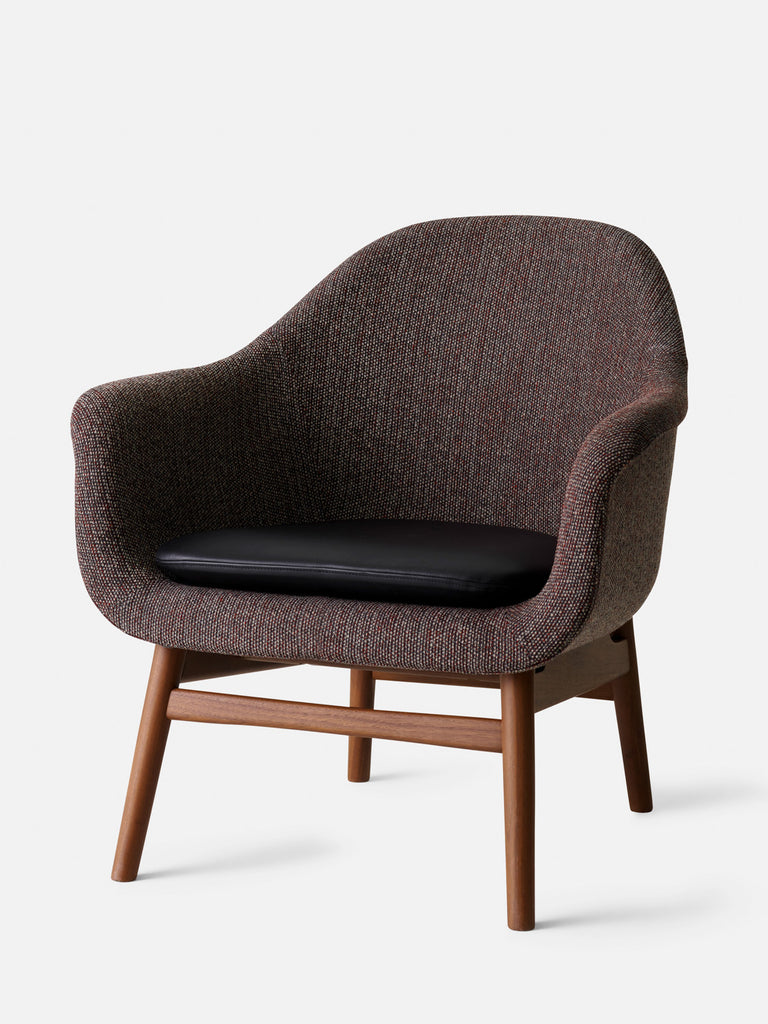 Harbour Lounge Chair-Lounge Chair-Norm Architects-Lounge Height (Seat 17in H)/Matte Lacquered Walnut-Shade 20296-672/Savanna-menu-minimalist-modern-danish-design-home-decor