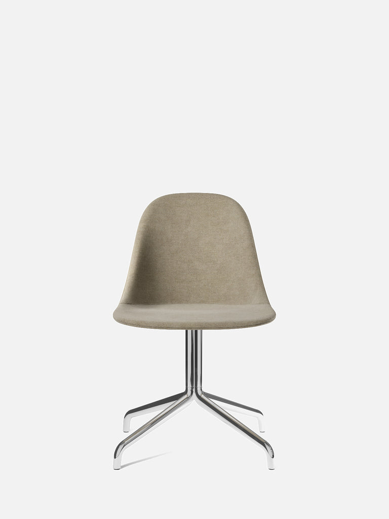 Harbour Side Chair, Upholstered-Chair-Norm Architects-Swivel Base (17.7in)/Polished Aluminum-0211/MelangeNap-menu-minimalist-modern-danish-design-home-decor