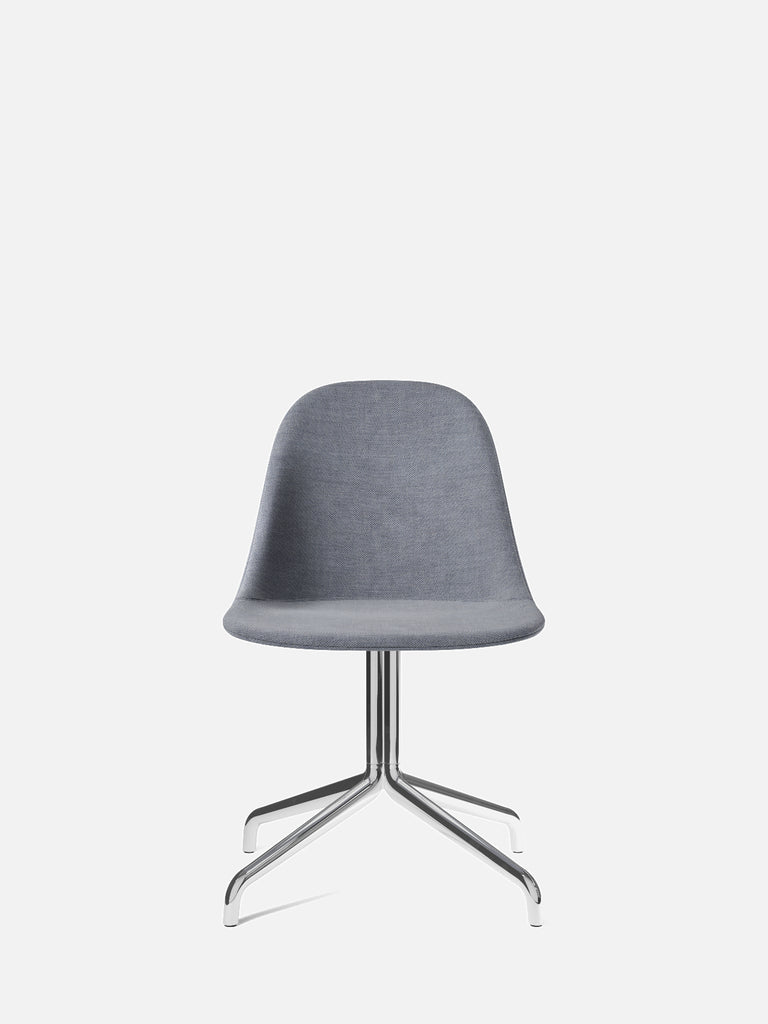 Harbour Side Chair, Upholstered-Chair-Norm Architects-Swivel Base (Seat 17.7in H)/Polished Aluminum-751/Fiord2-menu-minimalist-modern-danish-design-home-decor