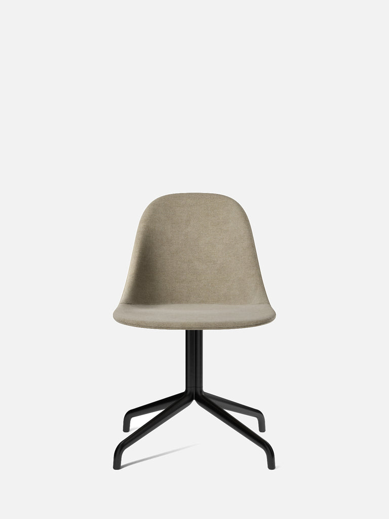 Harbour Side Chair, Upholstered-Chair-Norm Architects-Swivel Base (Seat 17.7in H)/Black Steel-0211/MelangeNap-menu-minimalist-modern-danish-design-home-decor
