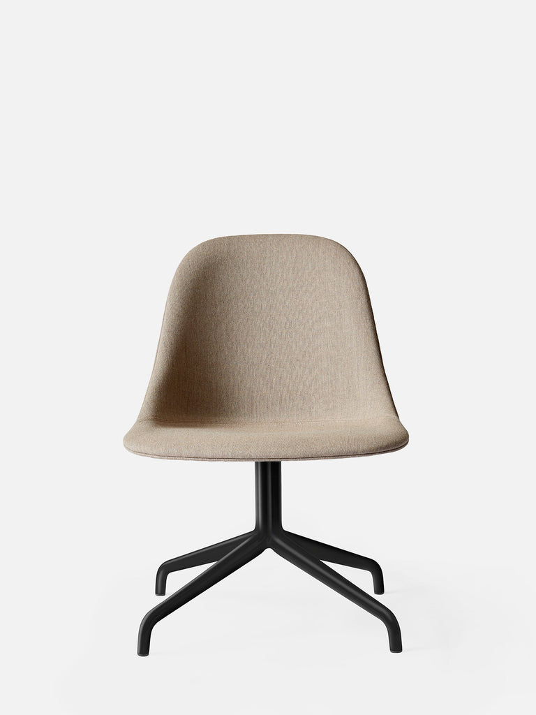 Harbour Side Chair, Upholstered-Chair-Norm Architects-Swivel Base - Black Steel-Sandy Brown Remix 2 (233)-menu-minimalist-modern-danish-design-home-decor