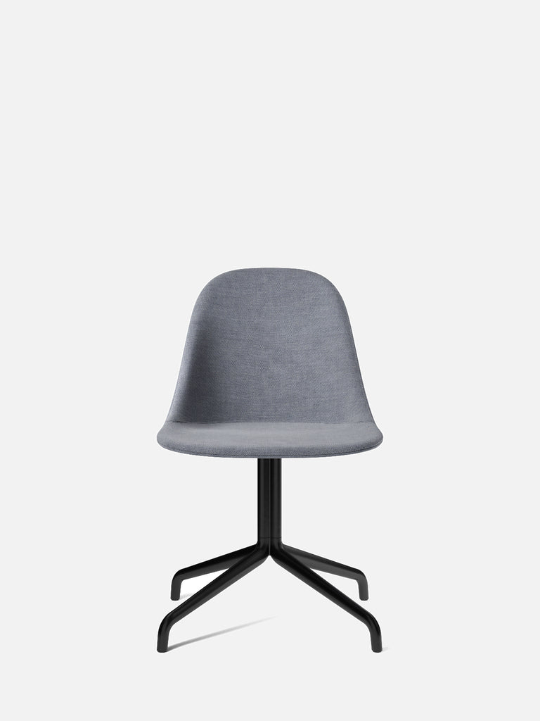 Harbour Side Chair, Upholstered-Chair-Norm Architects-Swivel Base (17.7in)/Black Steel-751/Fiord2-menu-minimalist-modern-danish-design-home-decor