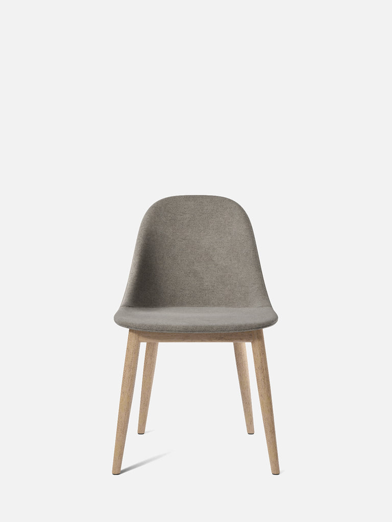 Harbour Side Chair, Upholstered-Chair-Norm Architects-Dining Height (17.7in)/Natural Oak-0111/MelangeNap-menu-minimalist-modern-danish-design-home-decor