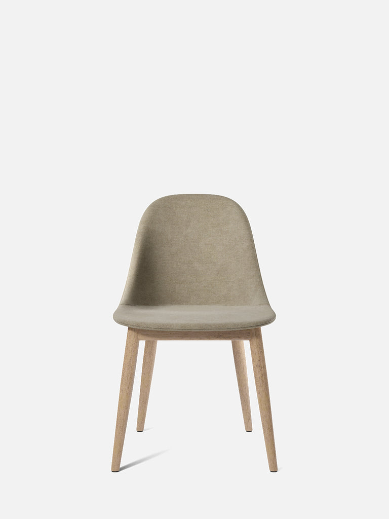 Harbour Side Chair, Upholstered-Chair-Norm Architects-Dining Height (17.7in)/Natural Oak-0211/MelangeNap-menu-minimalist-modern-danish-design-home-decor