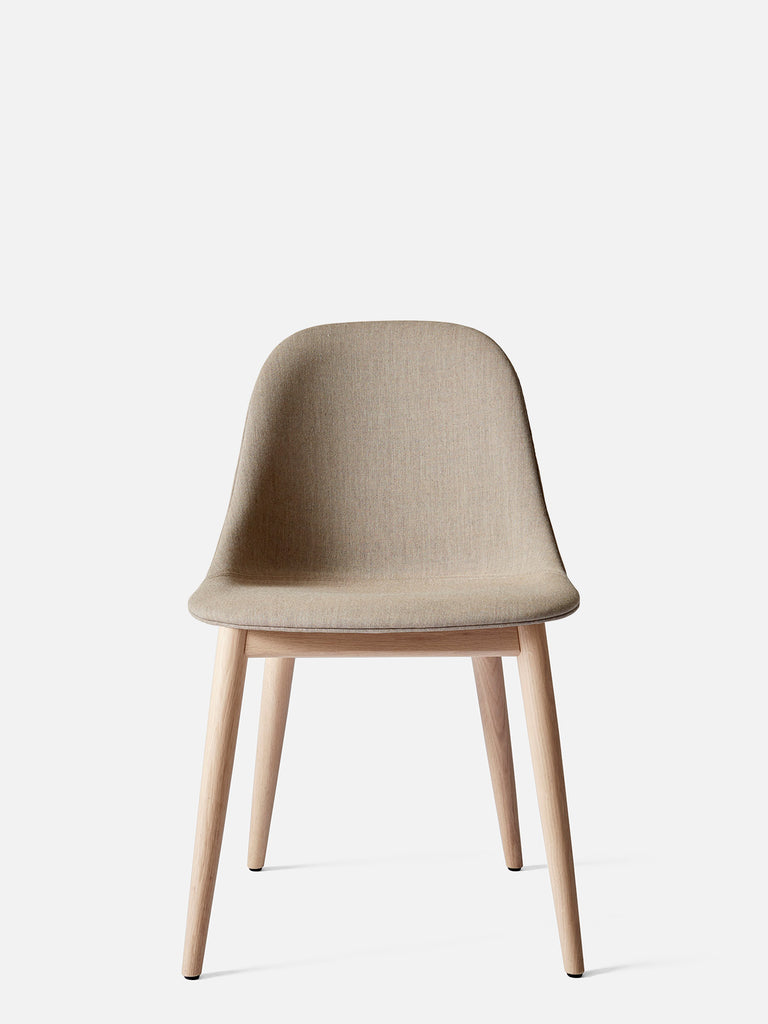Harbour Side Chair, Upholstered-Chair-Norm Architects-Table Height - Natural Oak-Sandy Brown Remix 2 (233)-menu-minimalist-modern-danish-design-home-decor