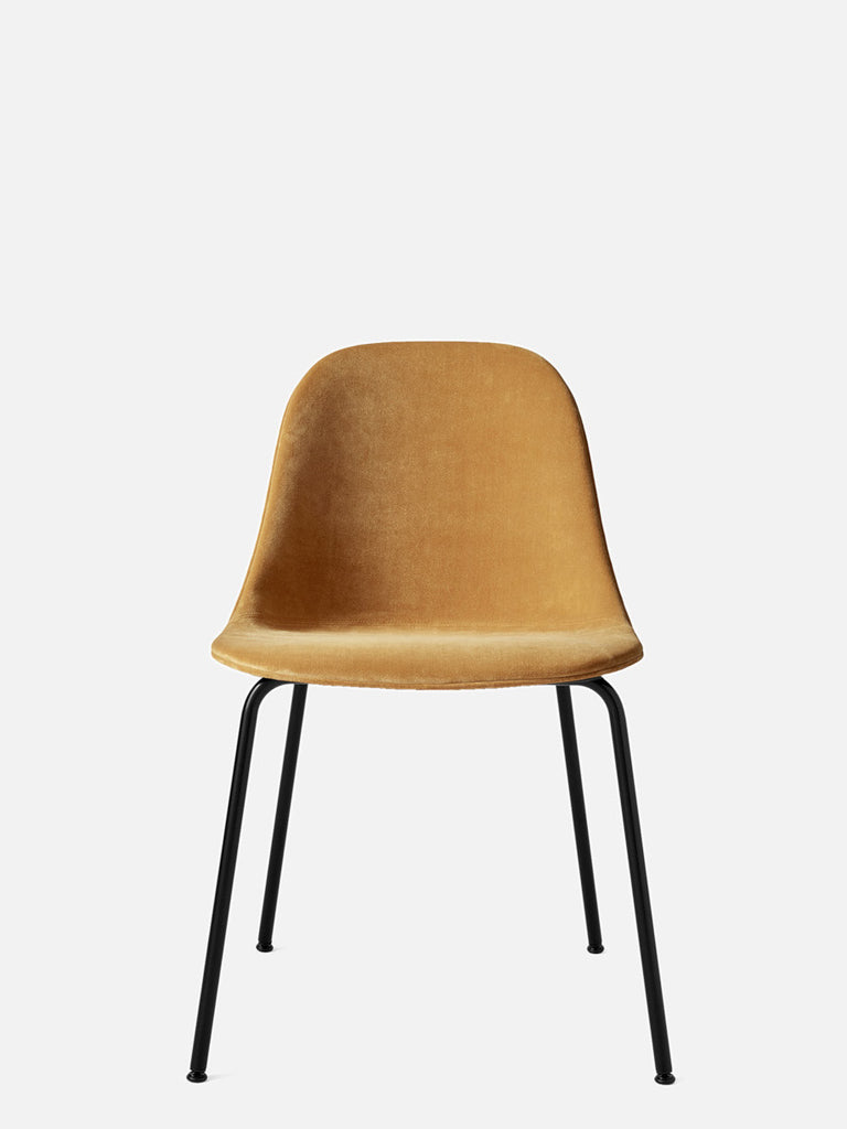 Harbour Side Chair, Upholstered-Chair-Norm Architects-Dining Height (17.7in)/Black Steel-CA7832-060/CityVelvet-menu-minimalist-modern-danish-design-home-decor