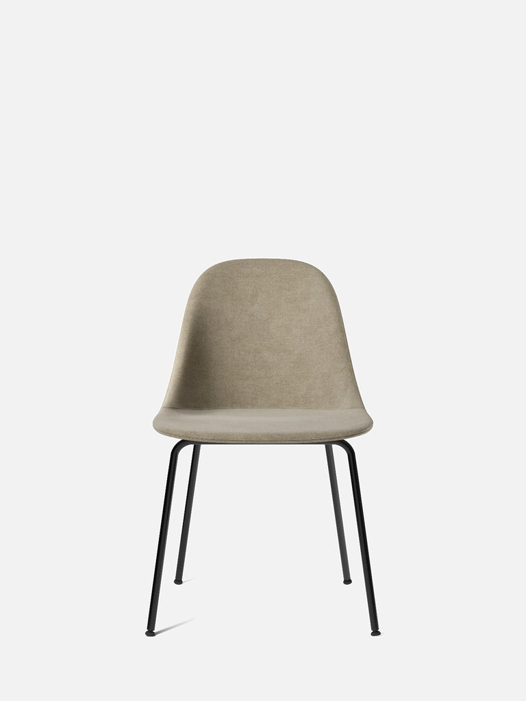 Harbour Side Chair, Upholstered-Chair-Norm Architects-Dining Height (17.7in)/Black Steel-0211/MelangeNap-menu-minimalist-modern-danish-design-home-decor