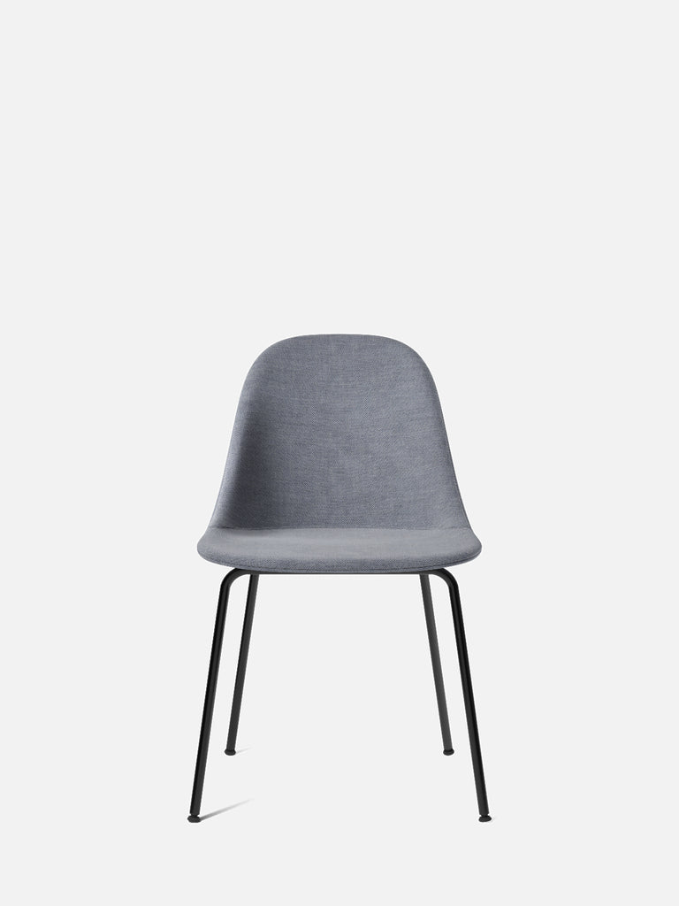 Harbour Side Chair, Upholstered-Chair-Norm Architects-Dining Height (17.7in)/Black Steel-751/Fiord2-menu-minimalist-modern-danish-design-home-decor