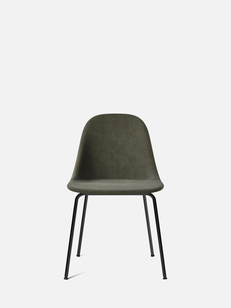 Harbour Side Chair, Upholstered-Chair-Norm Architects-Dining Height (17.7in)/Black Steel-961/Fiord2-menu-minimalist-modern-danish-design-home-decor
