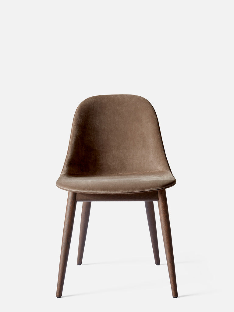 Harbour Side Chair, Upholstered-Chair-Norm Architects-Dining Height (17.7in) - Dark Oak-Grey Brown Velvet CA7832 (078)-menu-minimalist-modern-danish-design-home-decor