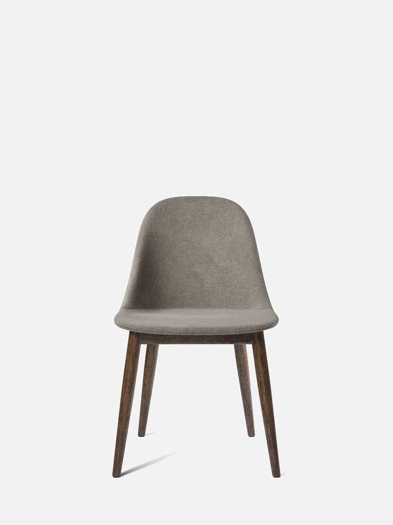 Harbour Side Chair, Upholstered-Chair-Norm Architects-Dining Height (Seat 17.7in H)/Dark Oak-0111/MelangeNap-menu-minimalist-modern-danish-design-home-decor