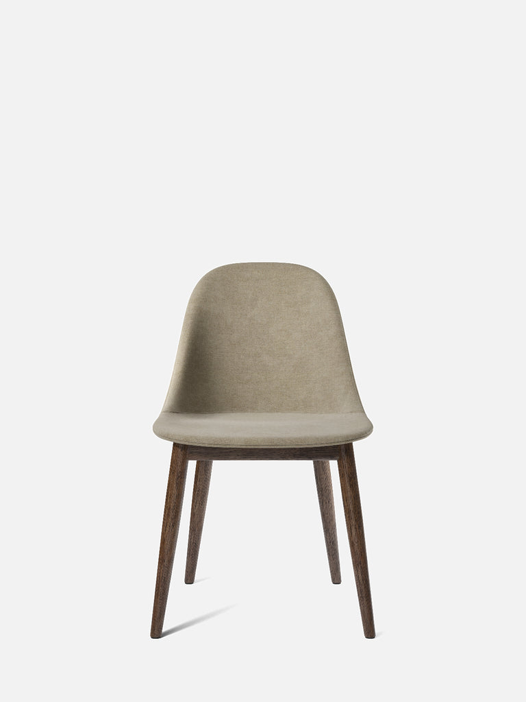 Harbour Side Chair, Upholstered-Chair-Norm Architects-Dining Height (17.7in)/Dark Oak-0211/MelangeNap-menu-minimalist-modern-danish-design-home-decor