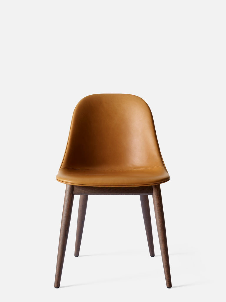 Harbour Side Chair, Upholstered-Chair-Norm Architects-Dining Height (Seat 17.7in H)/Dark Oak-0250 Cognac/Dakar-menu-minimalist-modern-danish-design-home-decor