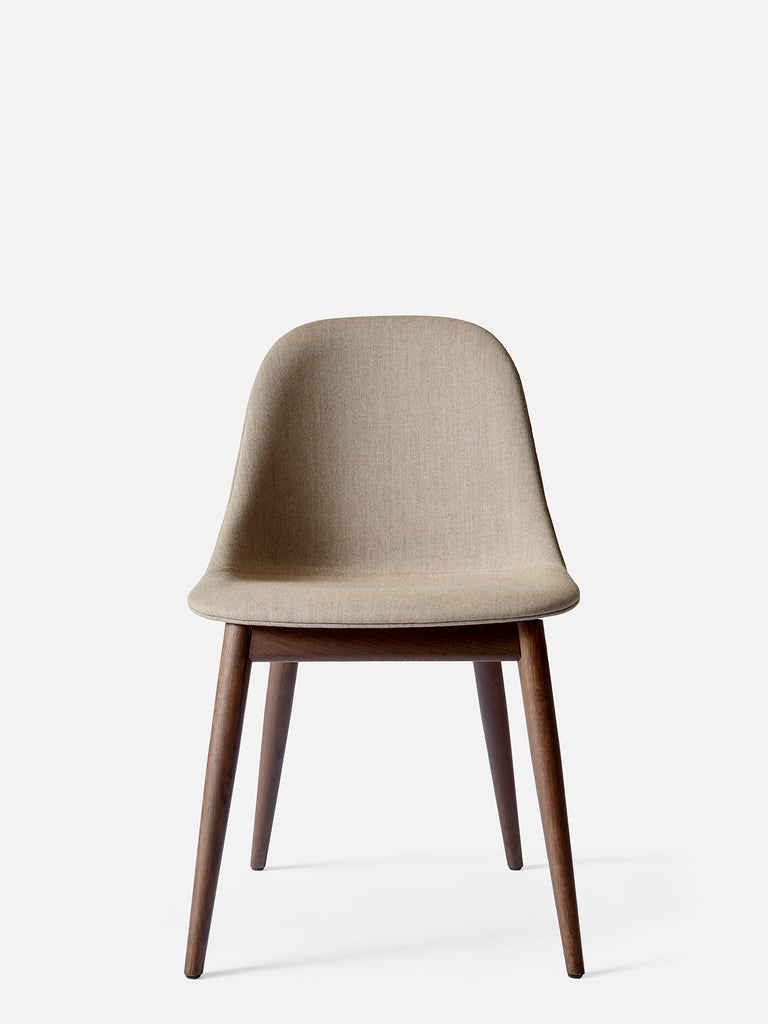 Harbour Side Chair, Upholstered-Chair-Norm Architects-Dining Height (17.7in) - Dark Oak-Sandy Brown Remix 2 (233)-menu-minimalist-modern-danish-design-home-decor