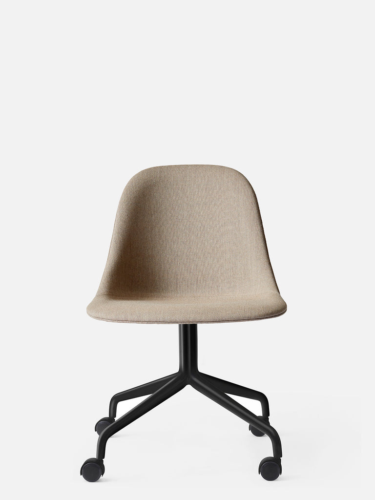 Harbour Side Chair, Upholstered-Chair-Norm Architects-Swivel Base - Black Steel w. Casters-Sandy Brown Remix 2 (233)-menu-minimalist-modern-danish-design-home-decor