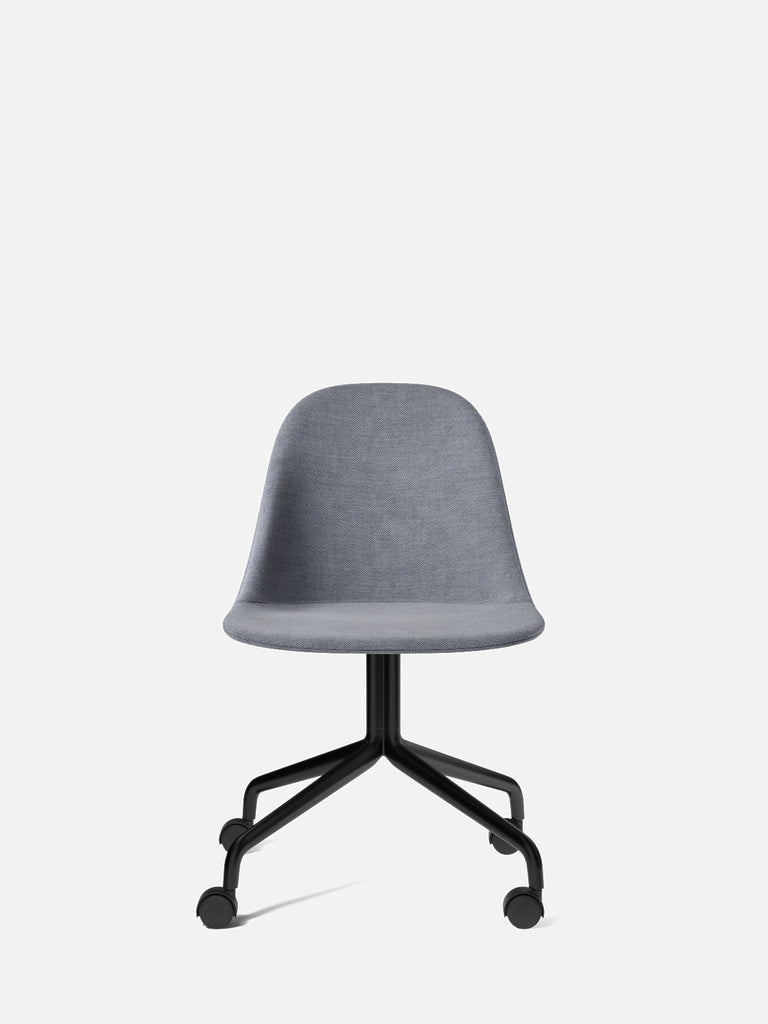 Harbour Side Chair, Upholstered-Chair-Norm Architects-Star Base (Seat 17.7in H)/Black Steel w. Casters-751/Fiord2-menu-minimalist-modern-danish-design-home-decor