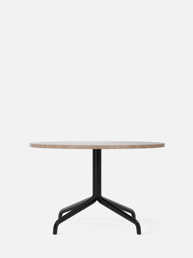Harbour Column Table, Round-Café Table-Norm Architects-Lounge Height (19.7in) - Star Base-Round 32in - Sand Stone-menu-minimalist-modern-danish-design-home-decor