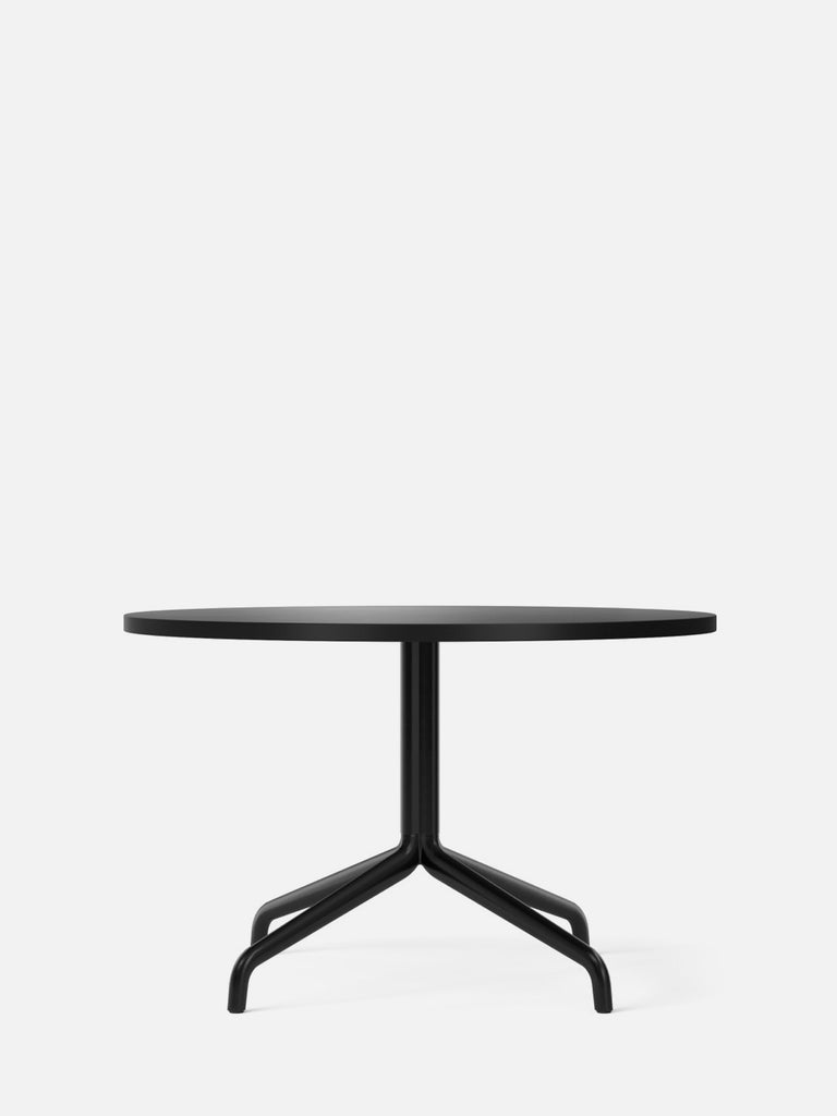Harbour Column Table, Round-Café Table-Norm Architects-Lounge Height (19.7in) - Star Base-Round 32in - Charcoal Linoleum-menu-minimalist-modern-danish-design-home-decor