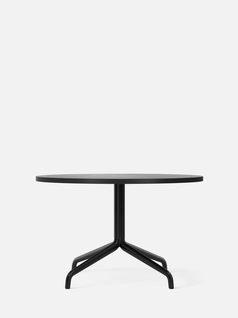 Harbour Column Table, Round-Café Table-Norm Architects-Lounge Height (19.7in) - Star Base-Round 32in - Black Stained Oak Veneer-menu-minimalist-modern-danish-design-home-decor
