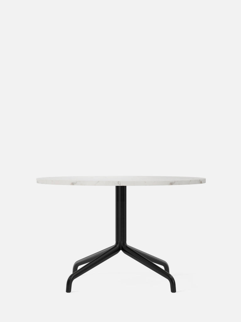 Harbour Column Table, Round-Café Table-Norm Architects-Lounge Height (19.7in) - Star Base-Round 32in - Off White Marble-menu-minimalist-modern-danish-design-home-decor
