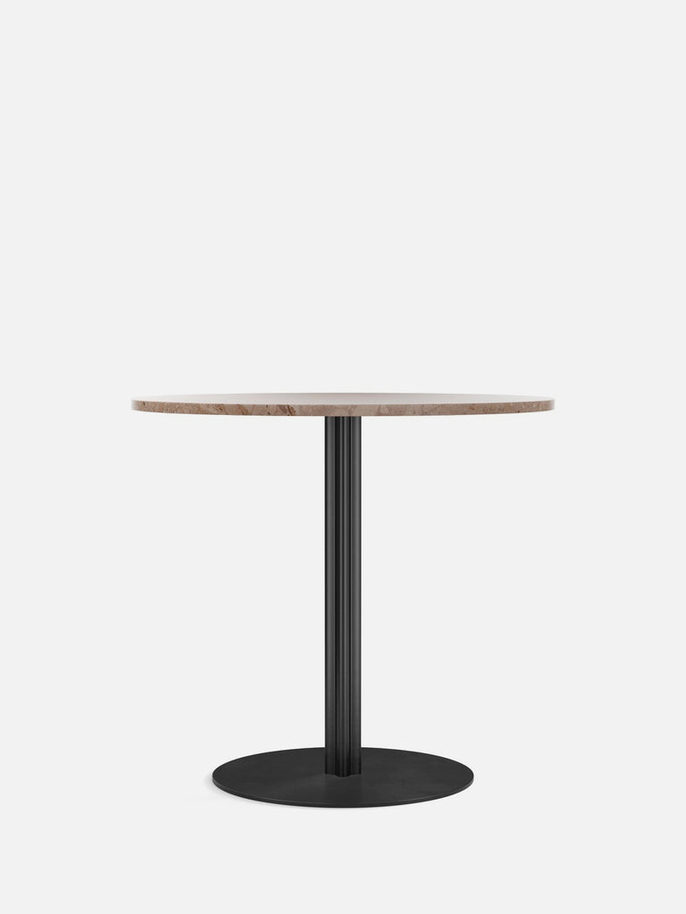 Harbour Column Table, Round-Café Table-Norm Architects-Dining Height (28.5in) - Round Base-Round 32in - Sand Stone-menu-minimalist-modern-danish-design-home-decor