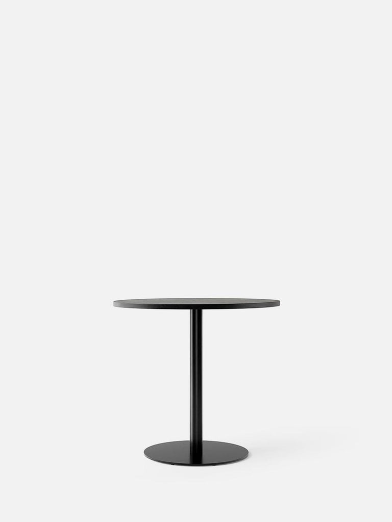 Harbour Column Table, Round-Café Table-Norm Architects-Dining Height (28.5in) - Round Base-Round 32in - Charcoal Linoleum-menu-minimalist-modern-danish-design-home-decor