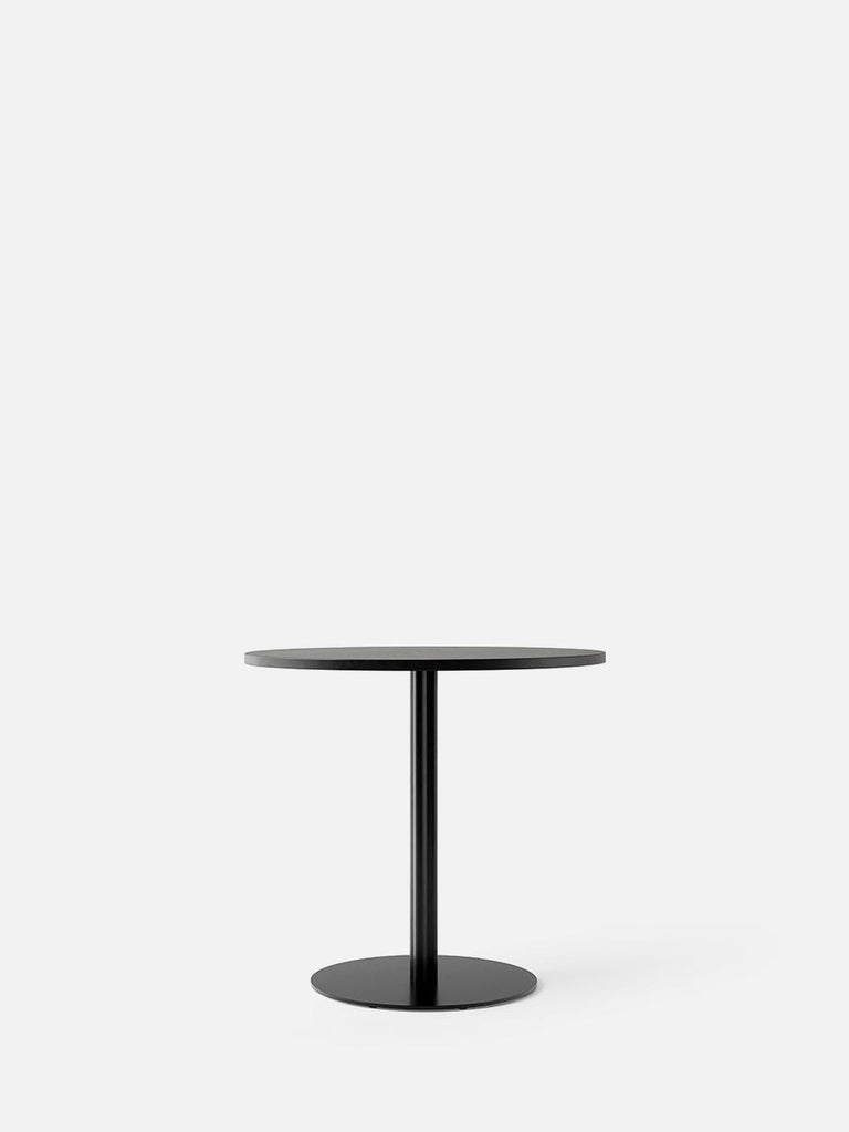 Harbour Column Table, Round-Café Table-Norm Architects-Dining Height (28.5in) - Round Base-Round 32in - Black Stained Oak Veneer-menu-minimalist-modern-danish-design-home-decor