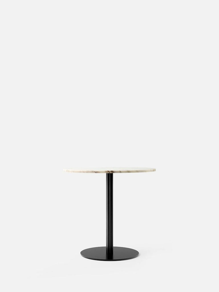 Harbour Column Table, Round-Café Table-Norm Architects-Dining Height (28.5in) - Round Base-Round 32in - Off White Marble-menu-minimalist-modern-danish-design-home-decor