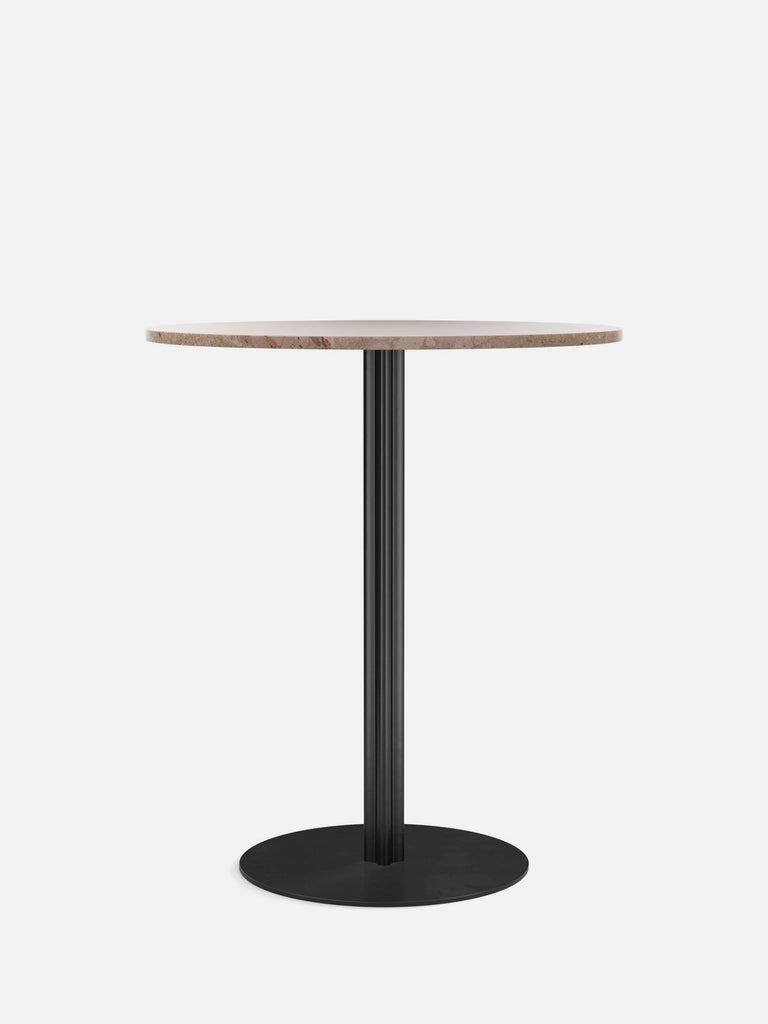 Harbour Column Table, Round-Café Table-Norm Architects-Counter Height (36.5in) - Round Base-Round 32in - Sand Stone-menu-minimalist-modern-danish-design-home-decor