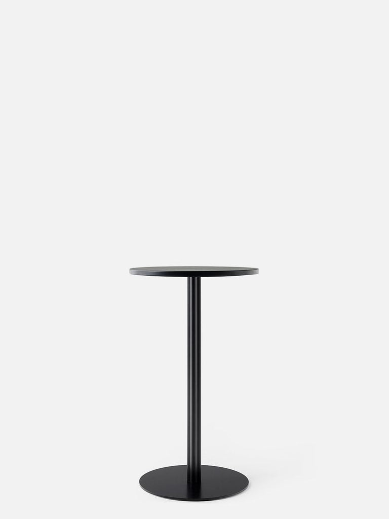 Harbour Column Table, Circular-Café Table-Norm Architects-Counter Height (36.5in)-24in DIA-Charcoal Linoleum-menu-minimalist-modern-danish-design-home-decor
