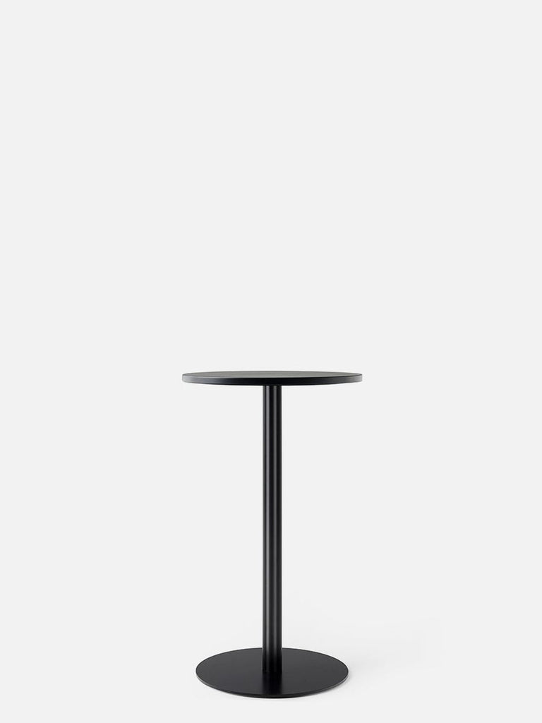 Harbour Column Table, Round-Café Table-Norm Architects-Counter Height (36.5in) - Round Base-Round 32in - Black Stained Oak Veneer-menu-minimalist-modern-danish-design-home-decor