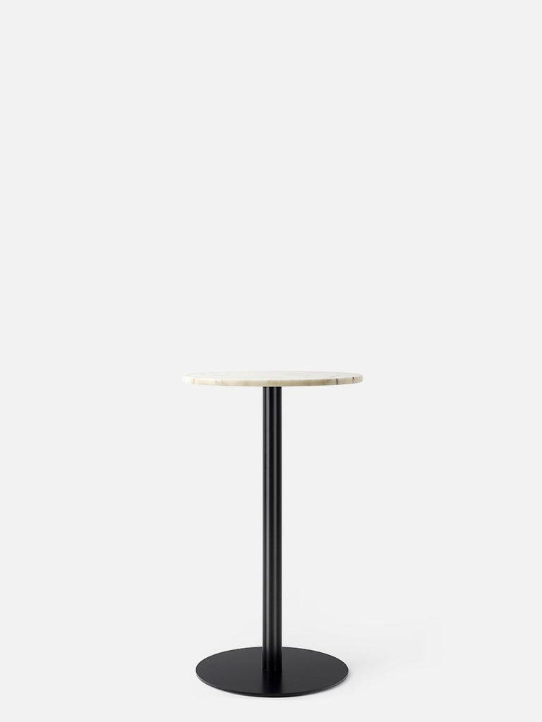Harbour Column Table, Round-Café Table-Norm Architects-Counter Height (36.5in) - Round Base-Round 32in - Off White Marble-menu-minimalist-modern-danish-design-home-decor