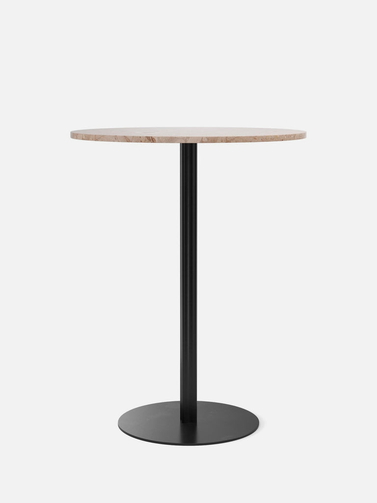 Harbour Column Table, Round-Café Table-Norm Architects-Bar Height (40.43in) - Round Base-Round 32in - Sand Stone-menu-minimalist-modern-danish-design-home-decor