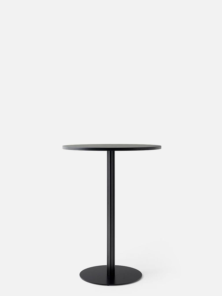 Harbour Column Table, Round-Café Table-Norm Architects-Bar Height (40.43in) - Round Base-Round 32in - Charcoal Linoleum-menu-minimalist-modern-danish-design-home-decor