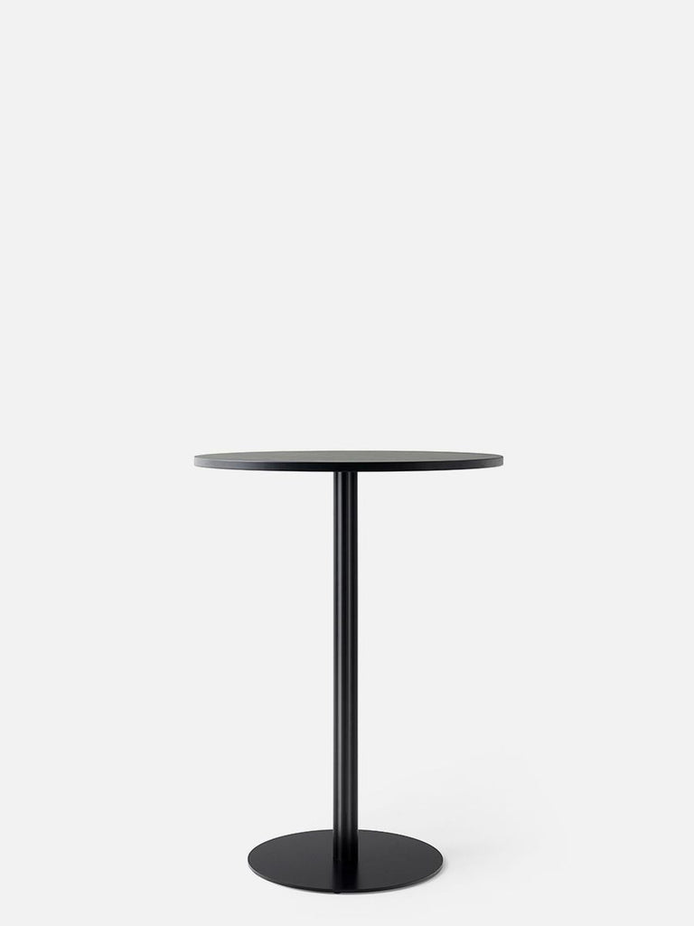 Harbour Column Table, Round-Café Table-Norm Architects-Bar Height (40.43in) - Round Base-Round 32in - Black Stained Oak Veneer-menu-minimalist-modern-danish-design-home-decor