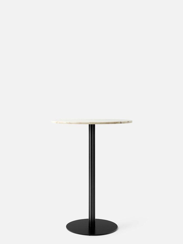 Harbour Column Table, Round-Café Table-Norm Architects-Bar Height (40.43in) - Round Base-Round 32in - Off White Marble-menu-minimalist-modern-danish-design-home-decor