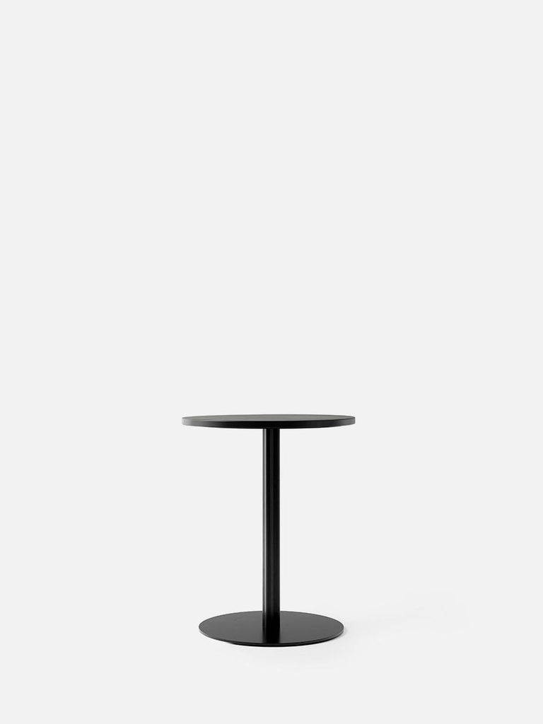Harbour Column Table, Round-Café Table-Norm Architects-Dining Height (28.5in) - Round Base-Round 24in - Charcoal Linoleum-menu-minimalist-modern-danish-design-home-decor