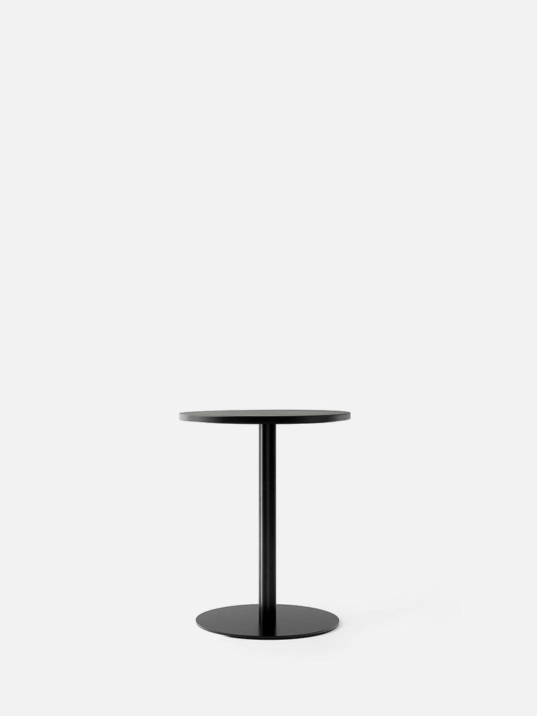 Harbour Column Table, Round-Café Table-Norm Architects-Dining Height (28.5in) - Round Base-Round 24in - Black Stained Oak Veneer-menu-minimalist-modern-danish-design-home-decor
