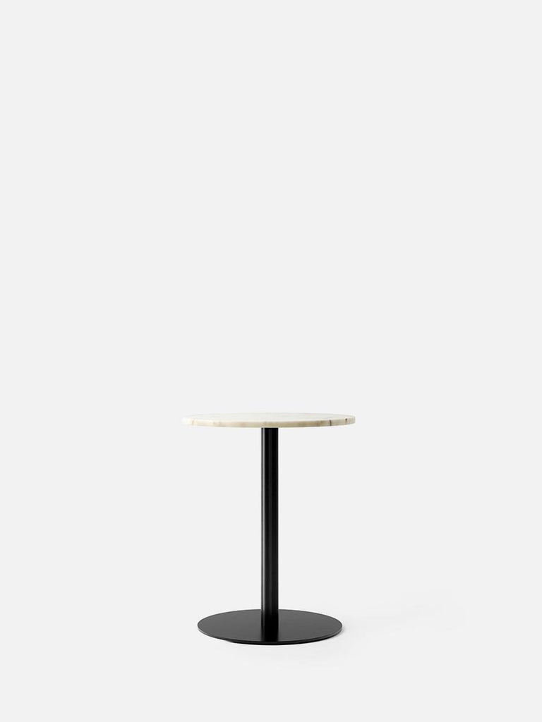 Harbour Column Table, Circular-Café Table-Norm Architects-Dining Height (28.5in)-24in DIA-Off White Marble-menu-minimalist-modern-danish-design-home-decor