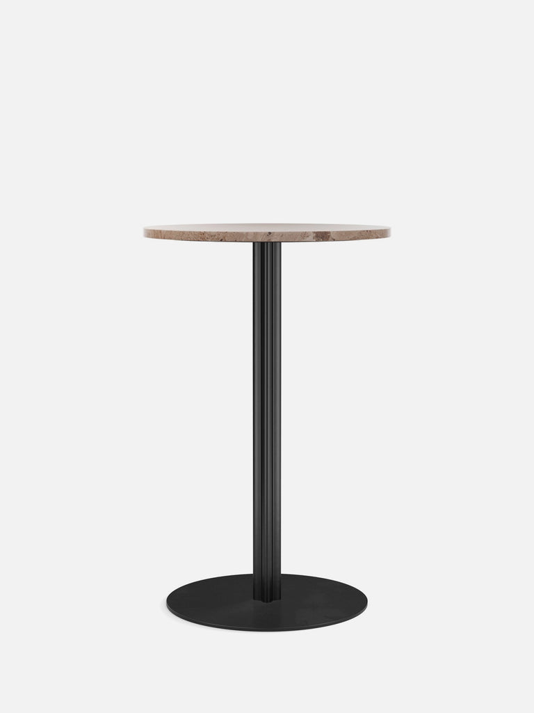 Harbour Column Table, Round-Café Table-Norm Architects-Counter Height (36.5in) - Round Base-Round 24in - Sand Stone-menu-minimalist-modern-danish-design-home-decor