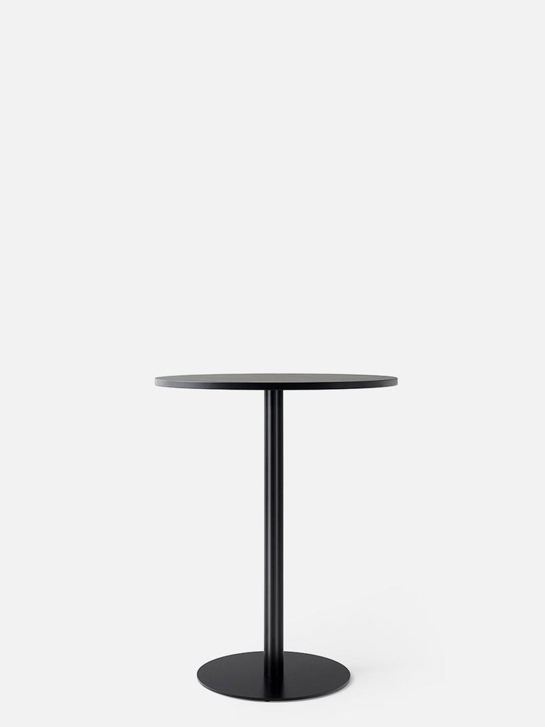 Harbour Column Table, Round-Café Table-Norm Architects-Counter Height (36.5in) - Round Base-Round 24in - Charcoal Linoleum-menu-minimalist-modern-danish-design-home-decor