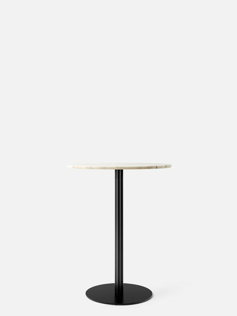 Harbour Column Table, Round-Café Table-Norm Architects-Counter Height (36.5in) - Round Base-Round 24in - Off White Marble-menu-minimalist-modern-danish-design-home-decor