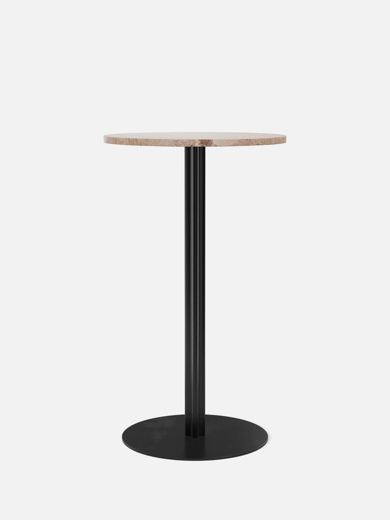 Harbour Column Table, Round-Café Table-Norm Architects-Bar Height (40.43in) - Round Base-Round 24in - Sand Stone-menu-minimalist-modern-danish-design-home-decor