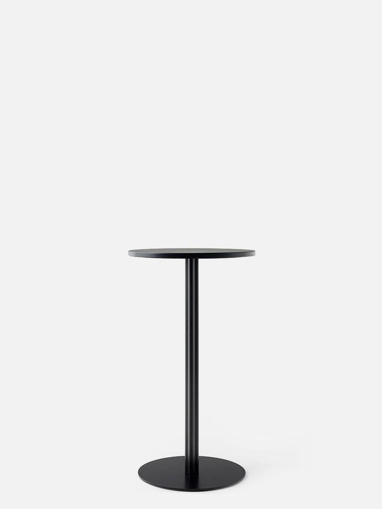 Harbour Column Table, Circular-Café Table-Norm Architects-Bar Height (40.43in)-24in DIA-Charcoal Linoleum-menu-minimalist-modern-danish-design-home-decor