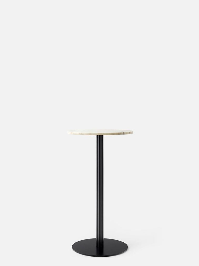 Harbour Column Table, Round-Café Table-Norm Architects-Bar Height (40.43in) - Round Base-Round 24in - Off White Marble-menu-minimalist-modern-danish-design-home-decor