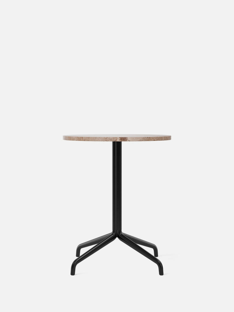 Harbour Column Table, Round-Café Table-Norm Architects-Dining Height (28.7in) - Star Base-Round 24in - Sand Stone-menu-minimalist-modern-danish-design-home-decor