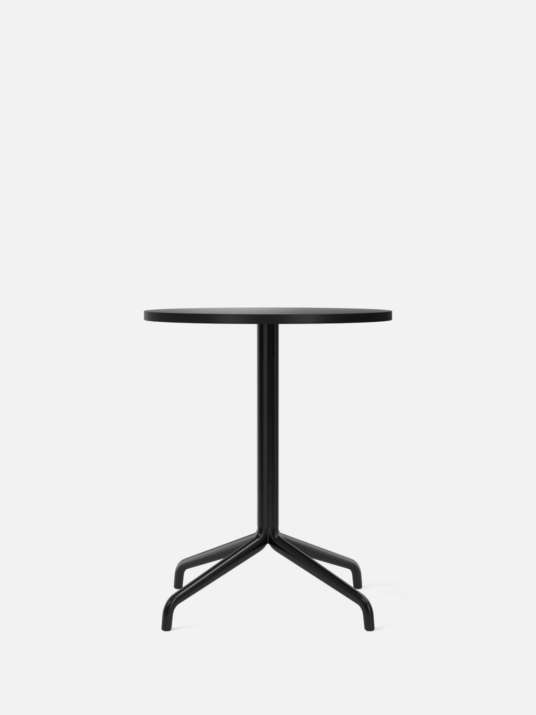 Harbour Column Table, Round-Café Table-Norm Architects-Dining Height (28.7in) - Star Base-Round 24in - Charcoal Linoleum-menu-minimalist-modern-danish-design-home-decor